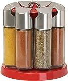 Emsa Galerie - Soporte giratorio para especias con 8 botes, color rojo