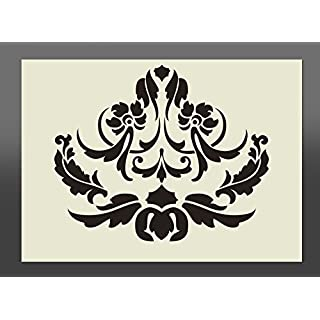 Damask Style Pattern Shabby Chic Mylar Stencil A4 297x210mm Wall Art, Furniture Stencil, Fabric Stencil