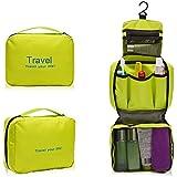 Getko Portable Toiletry Bag Wash Bag Bathroom Hanging Bag Travel Bag Zipper Storage Bag Drawer Dividers Cosmetic...