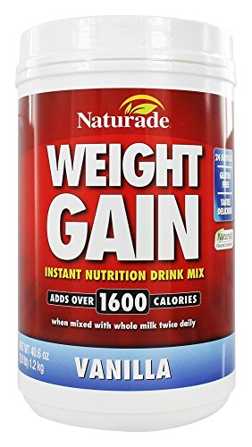 Naturade Weight Gain Instant Nutrition Drink Mix, Vanilla, 40.6 Ounce -