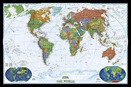 Decorator World Wall Map (World Decorator, laminated Wall Maps World: PP.NGW622077: Laminated Decorator Line (World Maps) by National Geographic Maps (2012-08-02))