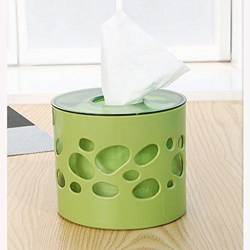 LANXINYUSHANGPU Multifunktion Tissue Box Kreative Zylinder Kunststoff Schublade Wohnzimmer Home Napkin Roll Drum (Farbe : Grün) (Drum Schublade)