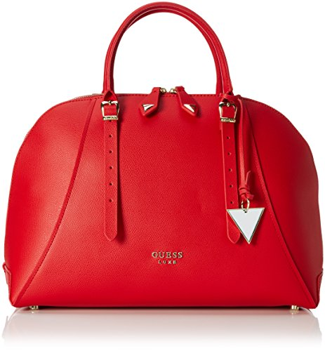 Guess Damen Lady Luxe Dome Satchel, One Size Rot (Red)