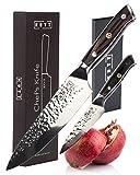 Kutt sacchetti trattati martellato Premium VG-10Gyutou chef coltello, 20,3cm coltello da cucina affilata per pollici perfetto di precisione, in acciaio damasco giapponese, design tedesco