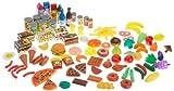 KidKraft 63187 - Leckere Spiel-Lebensmittel, 125 Teile für Kaufladen und Kinderküche