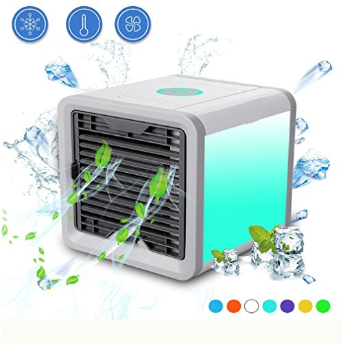 jinhot Personal Evaporative Air Cooler with Cool, humidify and Purify Functions Apply to Office, Home Living Room, Kitchen and Bedroom Color