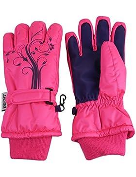 N 'ice Caps Niñas Thinsulate y impermeable guantes de invierno con flores, diseño de impresión