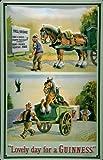 Blechschild Nostalgieschild Guinness Bier Pferd Karre Mautstation Schild Bierwerbung