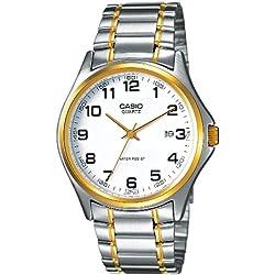 Casio Herren-Armbanduhr Analog Edelstahl mehrfarbig MTP-1188G-7BEF