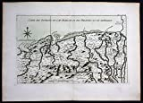 Grafik Haiti Hispaniola Cap Haitien Fort Liberte Bellin handcolored antique map