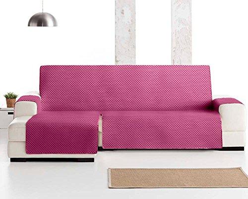 JM Textil Couvre canapé d'angle ELENA, protection matelassée pour canapé d'angle à gauche. Taille -240cm. Couleur Mauve 02 (VU DE FACE)