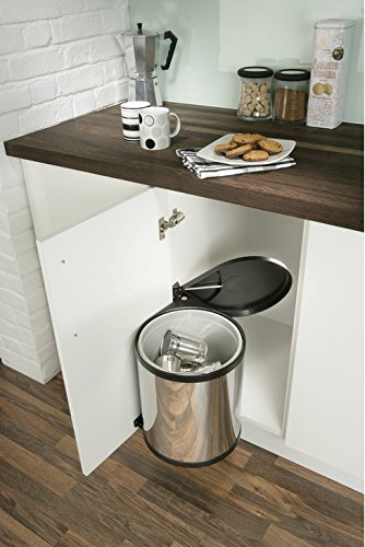Britten & James® Cubo basura tapa cocina 15 litros