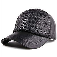 Duhongmei123 Sombrero de Cuero Hombre y Mujer Gorra de béisbol Gorro Tejido  a Mano Gorra de 677ac0a0b93