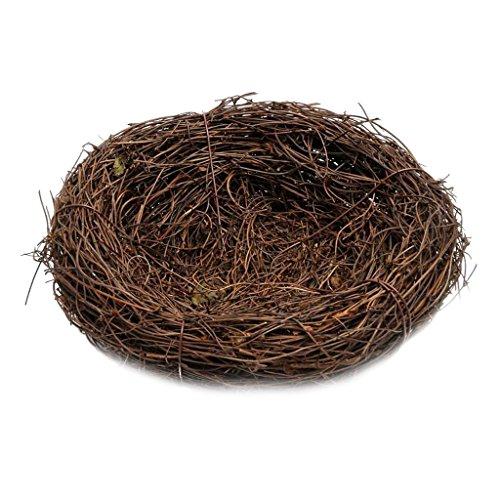 """joyMerit 2\"""" 14\"""" Optionen Rattan Vine Vogel Feeder Wild Birds Nest Hausgarten - Braun, 30cm"""