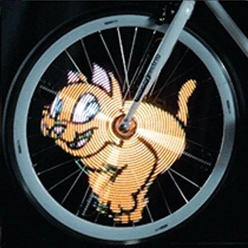 Bazaar 64 LED Luci di DIY bici bicicletta ha parlato la luce variopinta impermeabile ricaricabile