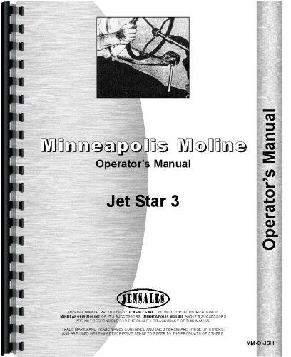 Minneapolis Moline (jet Star 3opérateurs de tracteur manuel