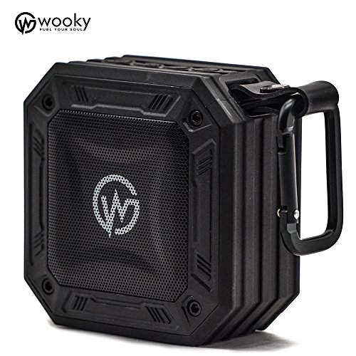 Wooky Aqua Stone-10 5W Wireless Waterproof Bluetooth Portable Outdoor Speaker (Black)