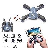 RC Quadcopter Drone Altitude Hold Mode Headless 4-ch émetteur Hc629pliable avec 30W Caméra vidéo Wifi d'image en temps réel Transmission de carte de téléphone portable télécommande