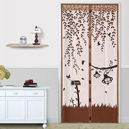 lzndeal Mosquitera magnética para puerta, 90x 210cm o 100x 210cm, malla muy fina, cortina de puerta antimosquitos para pasillos, puertas, patios