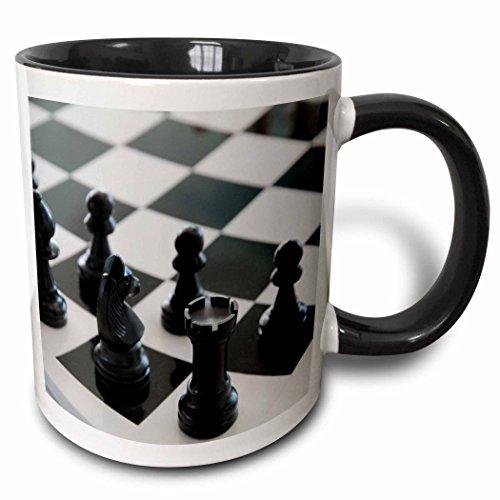 Taza de cerámica diseño de Tabla de ajedrez, Color Blanco/Negro (10,16 x 7,62 x 9,52 cm)