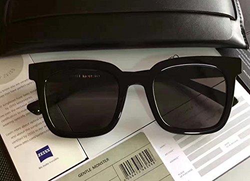 Verkaufen 1 Sie Dollar Für (Unisex Sonnenbrille Für sanfte Monster-SonnenbrilleNew Gentle man or Women Monster eyeware V brand FINN 01 sunglasses for Gentle monster sunglasses -black frame black lens)