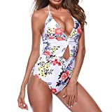TIFIY Damen Badeanzug Sommer Party Mode Monokini Strand Bikinis Push Up  Padded Bikini Beachwear (Weiß 1,M) a29d8a464f