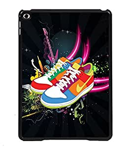PRINTVISA Musical Shoes Premium Metallic Insert Back Case Cover for Apple IPad Air - D5686
