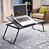 DlandHome Table de Lit/Canapé Foldable & Ajustable, Support Ordinateur Portable,...