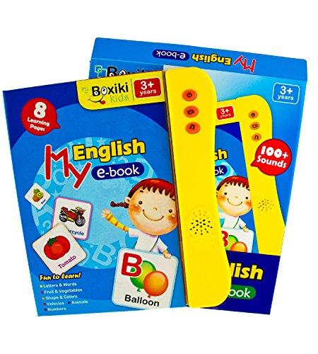 (Boxiki Kids Englisch ABC Klangbuch für Kinder / Englische Buchstaben & Wörter Lehrbuch, Lernspielzeug das Spaß macht. Lernaktivitäten für Buchstaben, Wörter, Nummern, Formen, Farben und Tiere für Kleinkinder.)