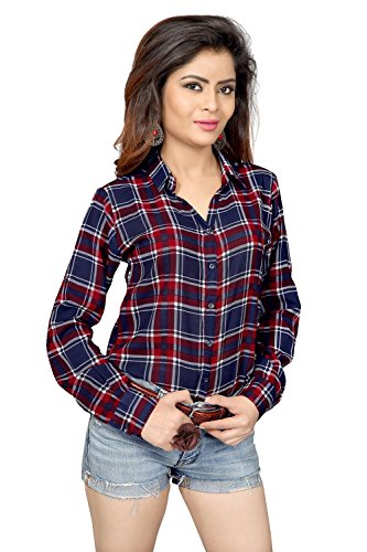 Swagg India Women's Printed Shirt (SWAGG RBCS ssiS04-M, Red)