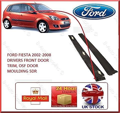 Neuf Ford Fiesta 5Dr 2001–2008MK6pilotes Porte avant Osf moulures de Noir droite