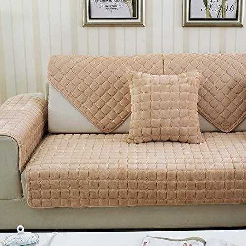 Sofabezug FüR Anwendbar Auf Die Ecksofa L Shape Haustiere Sofa Anti-Rutsch Plaid Schmutzresisten SchonbezüGe 1 Stück, Yellow, 90 * 160cm -
