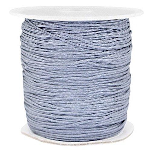 Sadingo Nylonschnur, Nylon Band zur Schmuckherstellung, 120 Meter auf Rolle, 1mm rund, Kordel für Anhänger Armband, Farbe:Grau