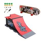 Dairyshop, set skatepark in miniatura con rampa e fingerboard, confezione da 6 set C