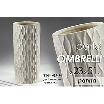 Casa e altro ancora Special Black Friday Portaombrelli in Metallo Design Moderno Finitura Lucida Fogli di Due Colori Beige