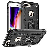 Wkvnk Coque iPhone 8 Plus,Coque iPhone 7 Plus,Coque iPhone 6 Plus,Antichoc Armure Silicone Housse Case pour iPhone 6 Plus/ 7 Plus/ 8 Plus (Noir)