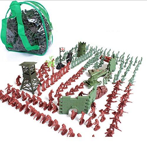 Gazechimp 238pcs 4cm Action Figuren Armee-Kampf-Spiel Spielzeug Soldat Mit Reißverschluss Rucksack