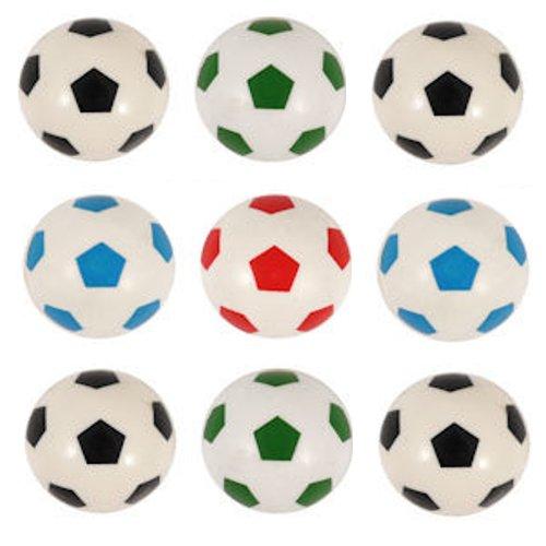 KSS 8 x Flummis Flummi Fußball Design 30 mm Mitgebsel Tombola Springball Hüpfball