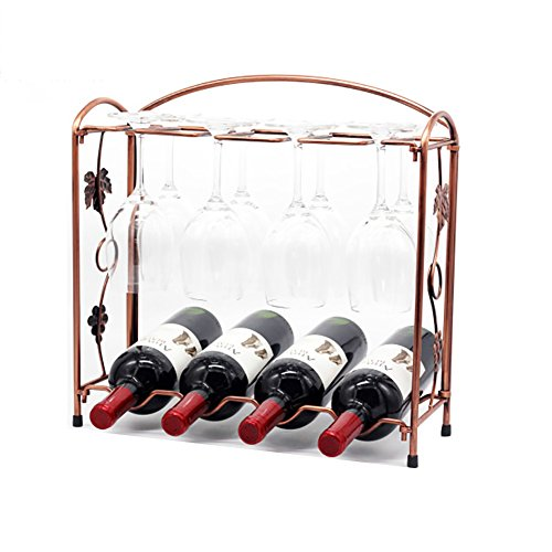 ZJM-wine rack Eisenmonolayer Weinregal Gangable Cup Holder Gangable Rack
