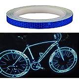 Amaoma Vélo Autocollant Réfléchissant 8M (315 '), Vélo Voiture Autocollants Vélo Roue Réflecteur, Moto Pneu VTT Vélo Accessoires, Stickers Pour Poussette / Casque / Jouets, Bleu