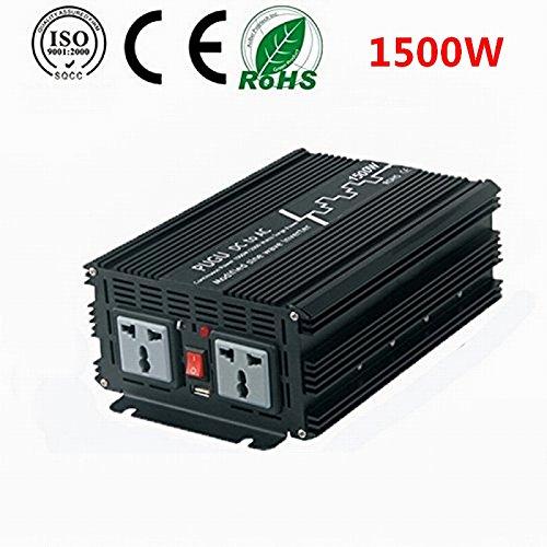 Preisvergleich Produktbild PUGU 1500W KFZ Modifizierte Sinuswelle Spannungswandler Inverter 12V auf 220V Wechselrichter mit USB Anschlüsse