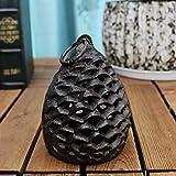 SLH American Cast Iron Crafts Pine Cone Candelabro De Hierro Forjado Lámpara Colgante Retro Vela Titular Muebles (Size : S)