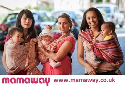 Mamaway Baby Ring Sling   Carrier   Birth to 3 Yr Breastfeeding   Lightweight and Strong Nylon Rings   Tested to Hold 50kg for 24 Hrs   Baby Shower Gift  One Size Fits All   Oceanara  Mamaway
