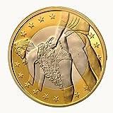 Colorful Sammlermünzen Gedenkmünze Sex Euro Münzen Mix Reine Goldmünzen Euro-Münzen (D)