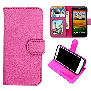 DooDa PU Leather Wallet Flip Case Cover With Card & ID Slots & Magnetic Closure For HTC ONE X / One X Plus