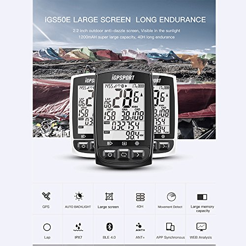 Zoom IMG-2 igpsport igs50e gps ciclismo computer