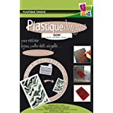 PW International - Plastique dingue NOIR, sachet de 7 feuilles de 260 x 200 mm, 3 ans et plus