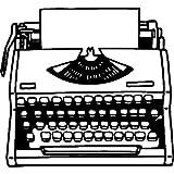 Azeeda A8 'Machine à écrire Vintage' Tampon (Non monté) (RS00028167)