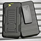 Sony Xperia Z1 Compact Hülle, Cocomii Robot Armor NEW [Heavy Duty] Premium Belt Clip Holster Kickstand Shockproof Hard Bumper Shell [Military Defender] Full Body Dual Layer Rugged Cover Case Schutzhülle D5503 (Black)