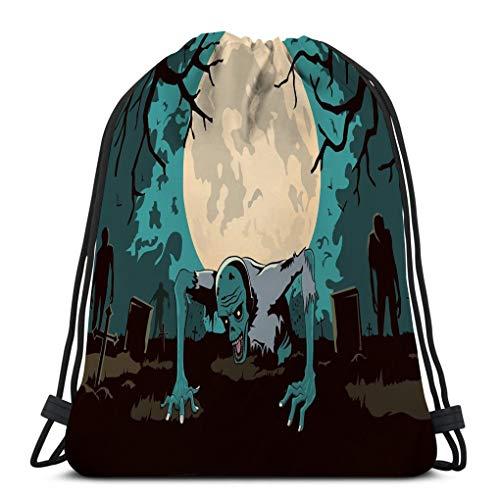 Jiuerlius4 Men Women Gym Drawstring Backpacks Shoulder